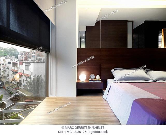 Minimalist Bedroom Near Large Window