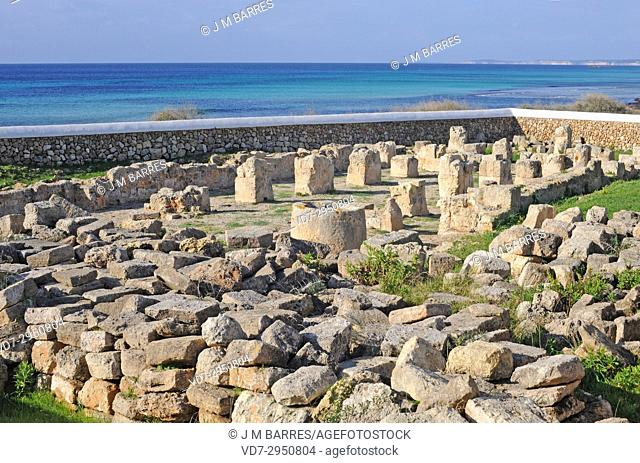 Son Bou, early Christian church (Basilica Paleocristiana). Alaior, Minorca Biosphere Reserve, Balearic Islands, Spain