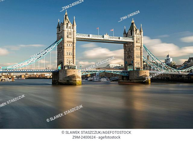 Afternoon at Tower Bridge in London, England, UK