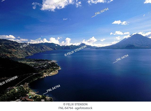 Lake surrounded by mountains, Lake Atitlan, Guatemala