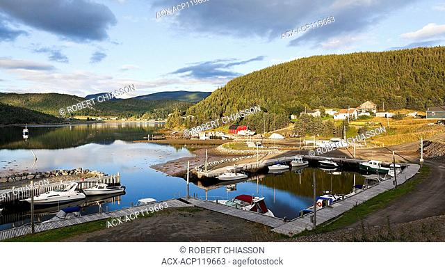Small boat docking area in Neddies Harbour, Norris Point, Newfoundland, Canada