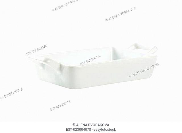 Porcelain lasagna pan with handles