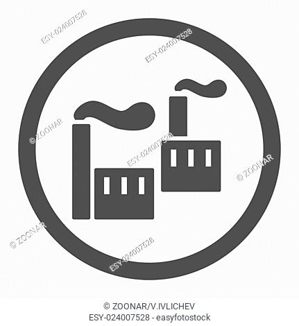 Industry flat gray color rounded vector icon