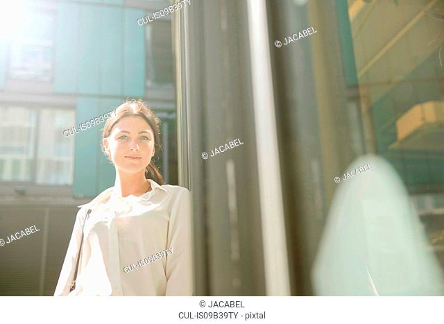 Portrait of businesswoman, London
