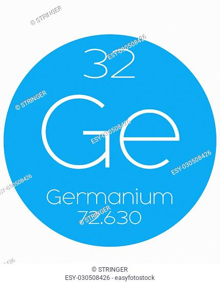 An Informative Illustration of the Periodic Element - Germanium