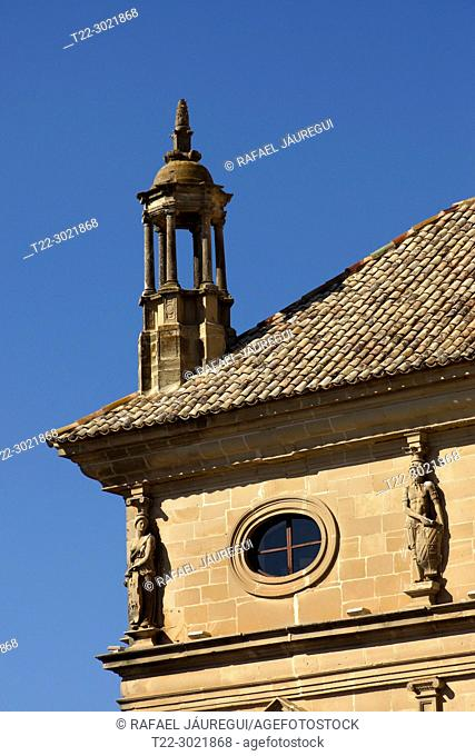 Úbeda (Jaén) Spain. Architectural detail of the Vázquez de Molina Palace or Palace of the Chains in the town of Úbeda