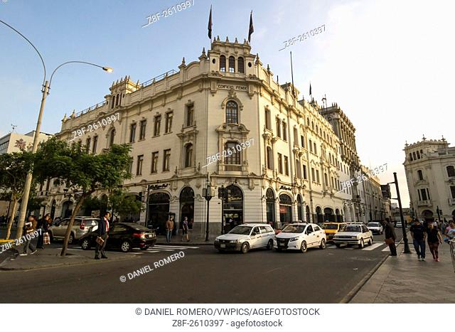 San Matin square, historical Center; Lima district, Lima, Peru