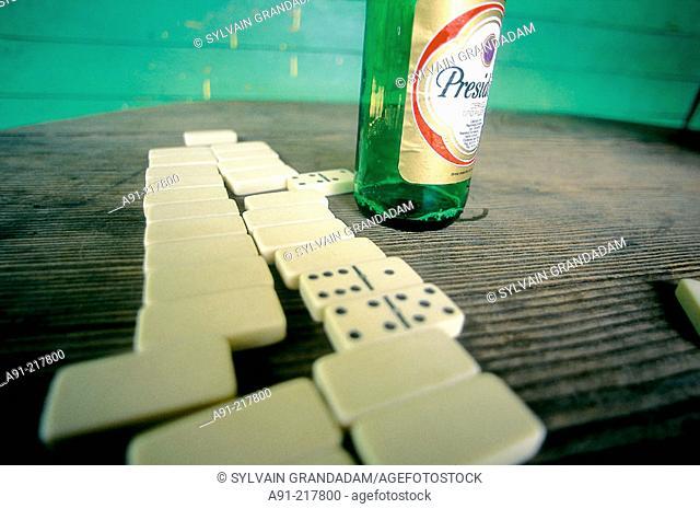 Domino game. Dominican Republic