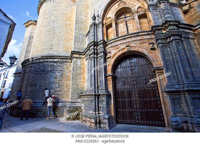Church of Santa Maria la Mayor, Ronda, White Towns, Malaga province, Andalusia, Spain, Europe