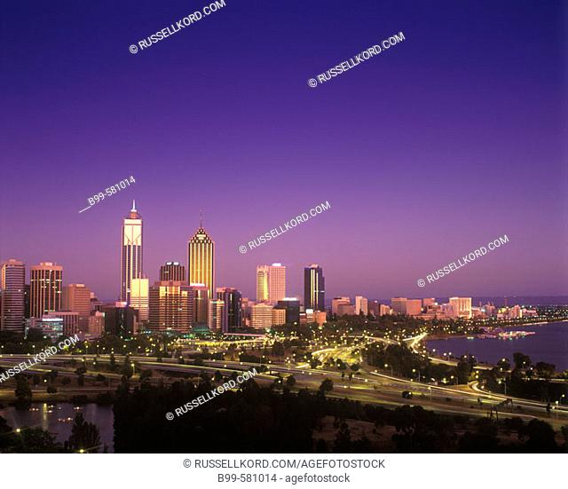 Downtown Skyline, Perth, Western Australia, Australia