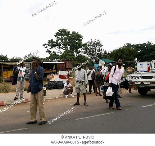 Street Scene, Gaborone, Botswana