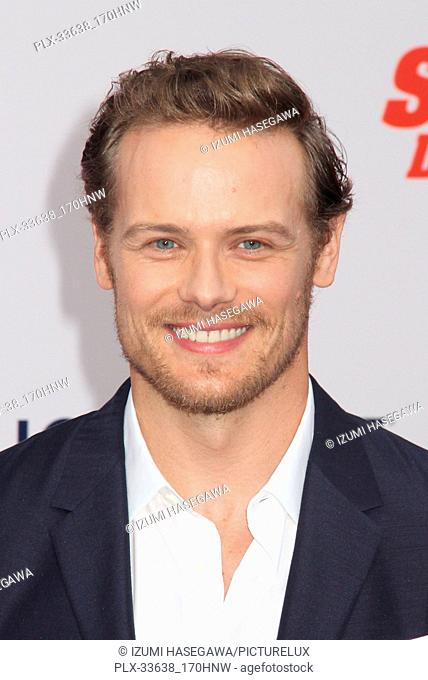 "Sam Heughan 07/25/2018 The Los Angeles Premiere of """"The Spy Who Dumped Me"""" held at Regency Village Theater in Los Angeles"