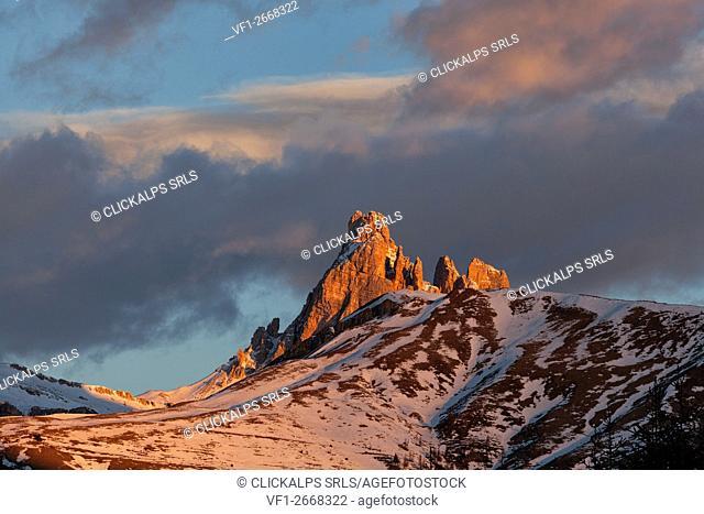 Ambrizzola Peak and Croda da Lago, Dolomites, Belluno, Veneto