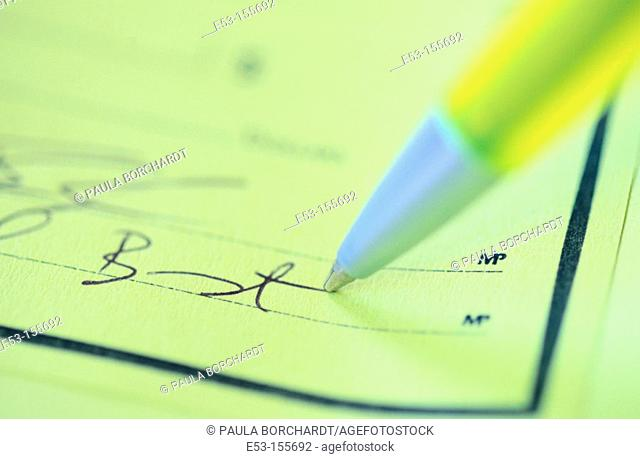 Signing a business check (2 signatures required)