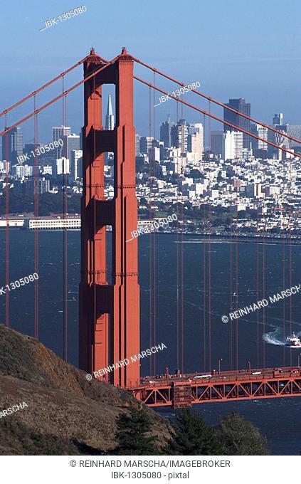 Golden Gate Bridge and the Bay of San Francisco, California, USA