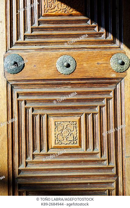 Door with Geometric patterns. Topkapi Palace. Istanbul. Turkey