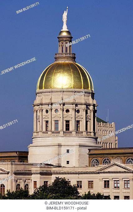 Dome on State Capitol building, Atlanta, Georgia, United States