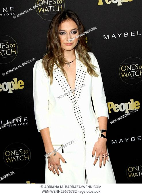 People's One's To Watch Event Celebrating Hollywood's Rising & Brightest Starts held at E.P. & L.P. in Los Angeles Featuring: Daya Where: Los Angeles