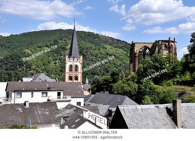 Bacharach, Germany, Europe, Middle Ages, Rhine Valley, Rhineland-Palatinate, UNESCO, world heritage, church, Peter's church, rui