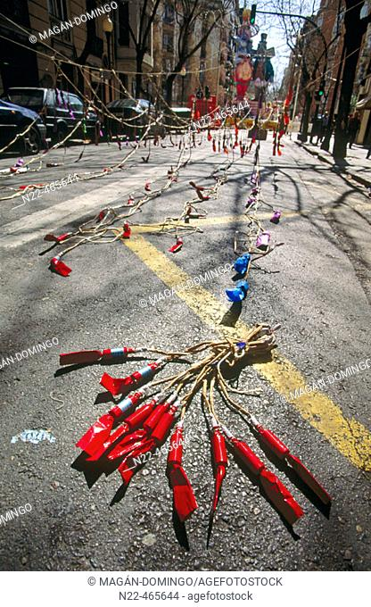 Firecrackers. Fallas. Valencia. Spain