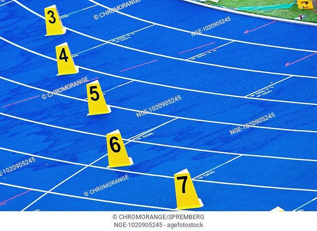 Blue tartan track