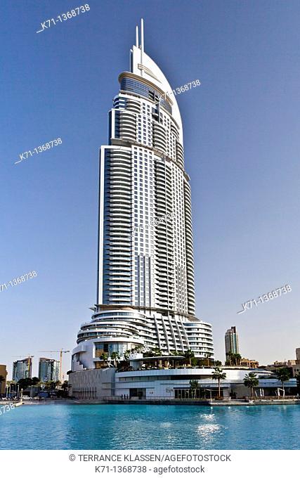 The Lake Hotel near the Dubai Mall in Dubai, UAE