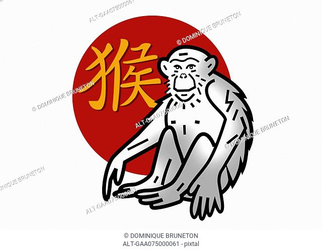 Chinese zodiac sign for year of the monkey