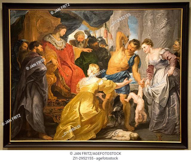' the judgement of solomon' by Peter Paul Rubens in National Museum in Copenhagen, Denmark