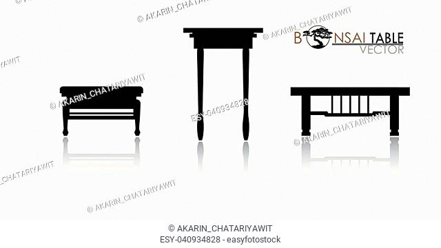 Cascade style bonsai showcase, Detailed image, Vector illustration, modern table icon vector