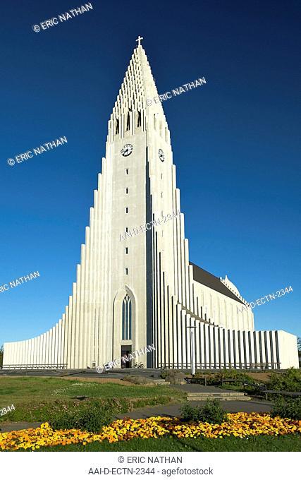 Hallgrimur's Church Hallgrimskirkja in Reykjavik Iceland