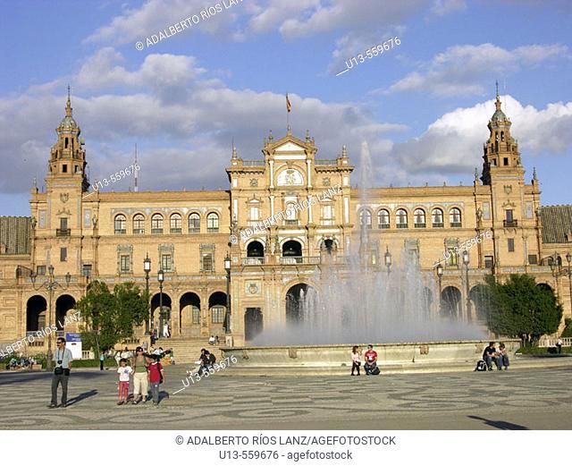 Plaza de España. Sevilla. Andalucia. Spain