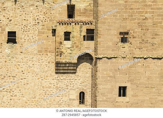 Castillo Palacio. Mora de Rubielos. Camino del Cid. Aragón. Spain