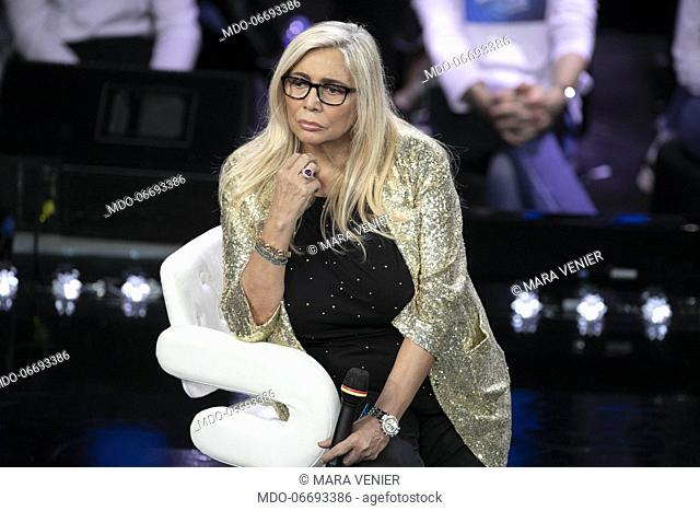 Italian tv host Mara Venier during the episode of Domenica In dedicated to 69th Sanremo Music Festival. Sanremo (Italy), February 10th, 2019