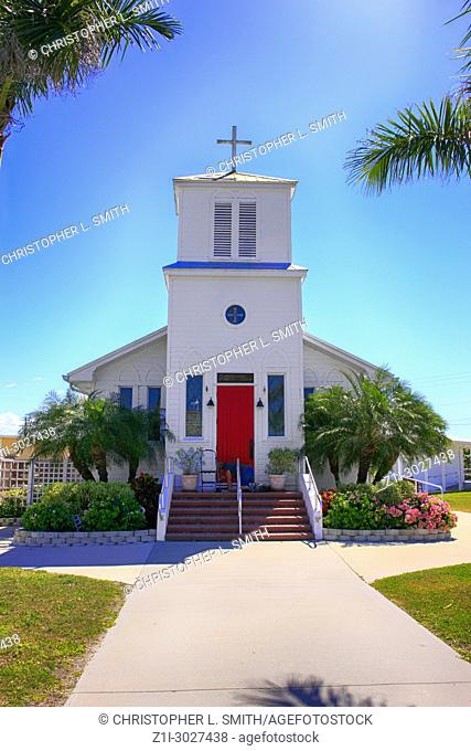Everglades Community Church built in 1929 in Everglades City, Florida USA