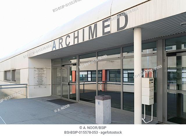 Reportage in the hepatology service of Archet Hospital, Nice, France. The Archimed research building: researchers from INSERM