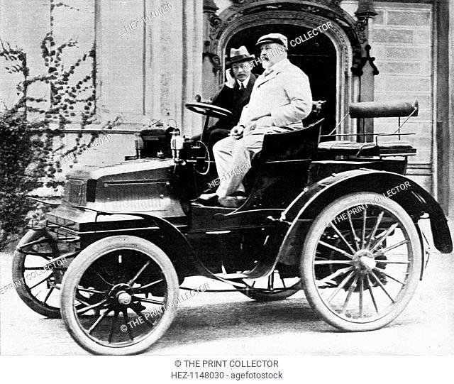 King Edward VII in Lord Montagu's 1899 Daimler 12hp, 1900