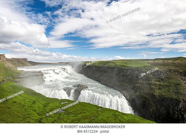 Gullfoss waterfall, Hvita river, Iceland