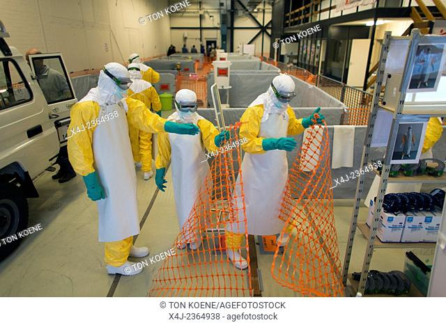 practical training centre in Amsterdam for MSF staff to be trained in EBOLA protocols. The most important protocols are the safe dressing and undressing of...