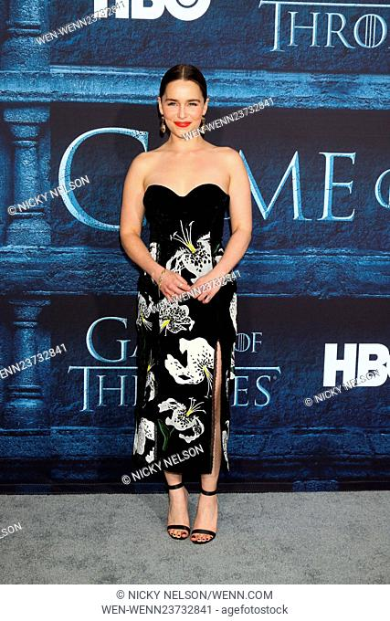 'Game of Thrones' Season 6 premiere screening held at TCL Chinese Theater IMAX Featuring: Emilia Clarke Where: Los Angeles, California