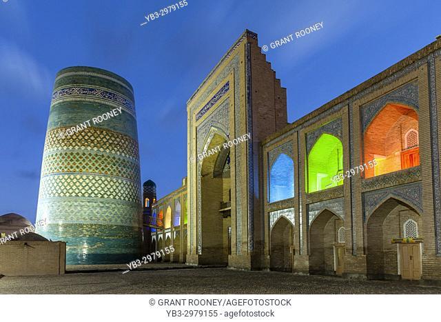The Kalta Minar Minaret and Mohammed Amin Khan Madrassa (Orient Star Hotel), Khiva, Uzbekistan