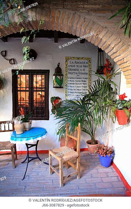 Andalusian yard in the neighborhood of La Judería. Córdoba