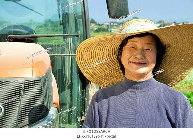 Portrait of Senior Female Farmer
