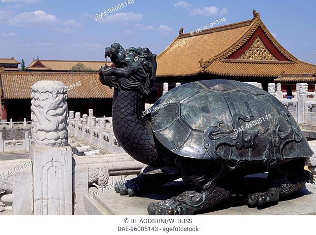 Bronze Sculpture Depicting A Turtle Forbidden City UNESCO World Heritage List 1987