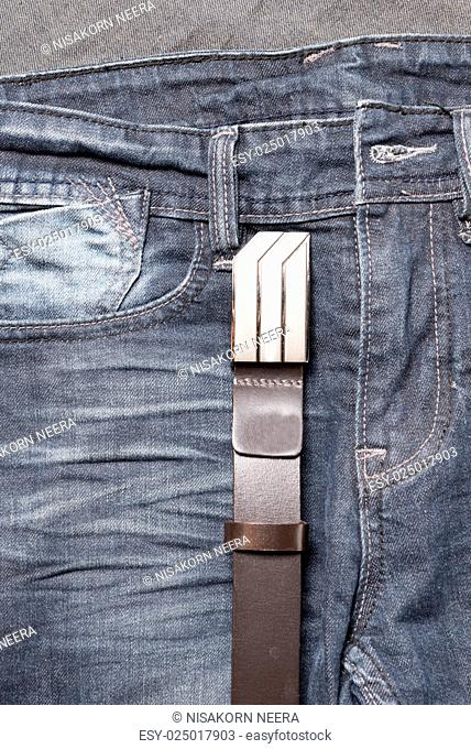 jean and leather belt