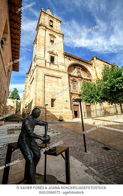 St. James way; Church of La Asuncion at Navarrete, La Rioja, Spain