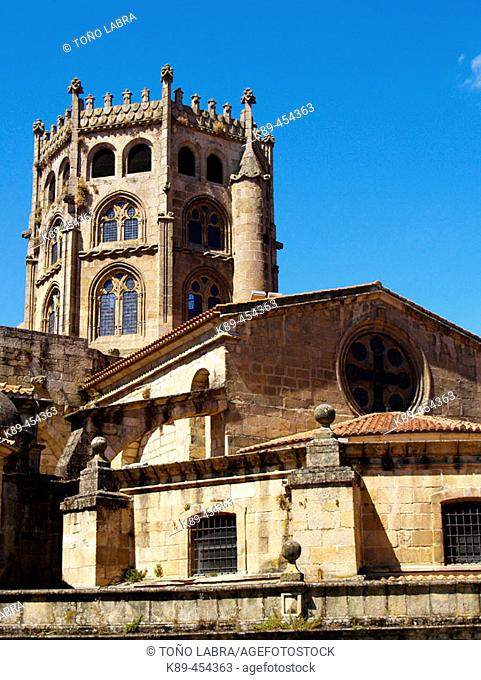 Romanesque cathedral (13th century), Orense. Galicia, Spain