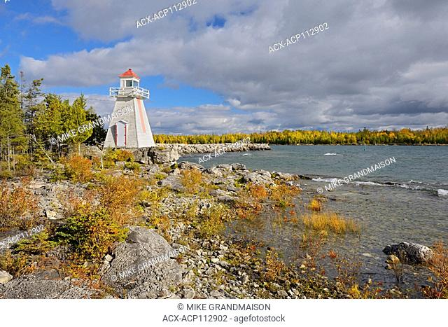 Lighthouse on Lake Huron at South Baymouth, Manitoulin Island, Ontario, Canada