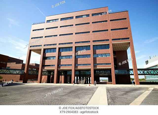 the healey library building umass campus columbia point Boston USA