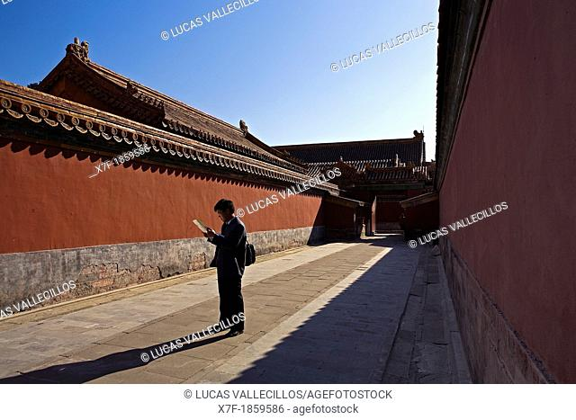 Tourist  Alley in Forbidden City,Beijing, China