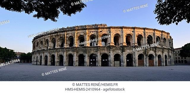 France, Gard, Nimes, Place des Arenes, The Arenas